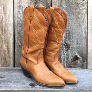 VTG ACME Leather Cowgirl Boots, 7 1/2 D